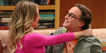 Penny (Kaley Cuoco) and Leonard (Johnny Galecki)