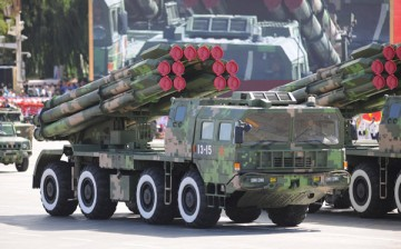 Long-range rockets, such as these ones shown in this 2009 file photo, were shown during the parade rehearsal.