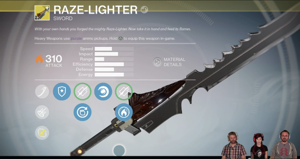 Destiny The Taken King Unveils Raze Lighter Exotic Sw