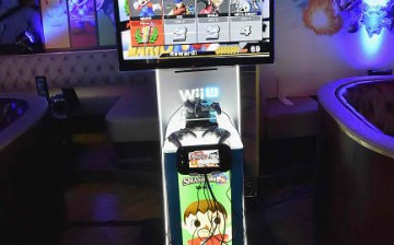 A general view of atmosphere during the Super Smash Bros for Wii U event in West Hollywood, CA on November 11, 2014 in Los Angeles, California.