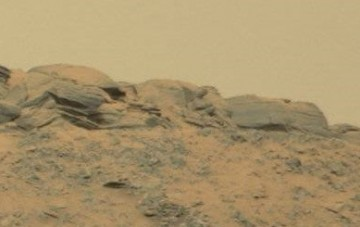 Can you spot the Buddha among the Martian rock formations?