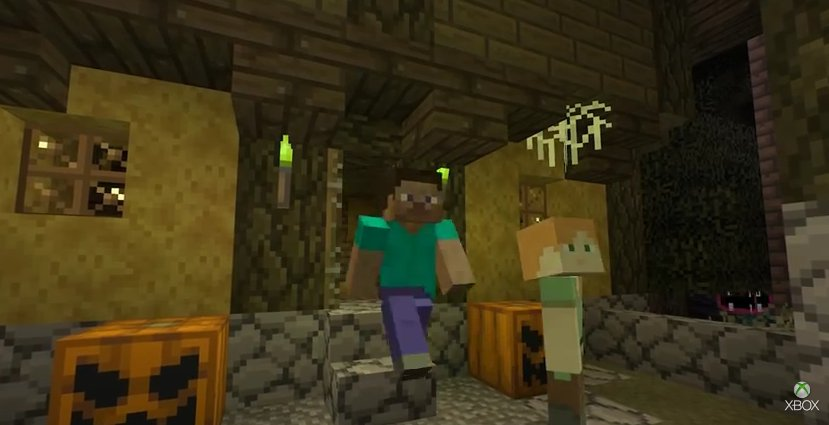 Minecraft Xbox One Receives New Update Adds Halloween - Skins para minecraft pe halo