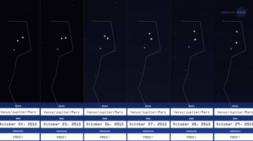 Look east before sunrise in late October for a beautiful conjunction of bright planets.