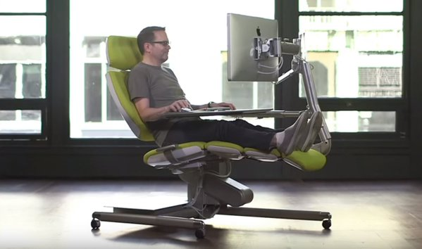 Altwork S Lie Down Computer Workstation Is Unique Chair Be