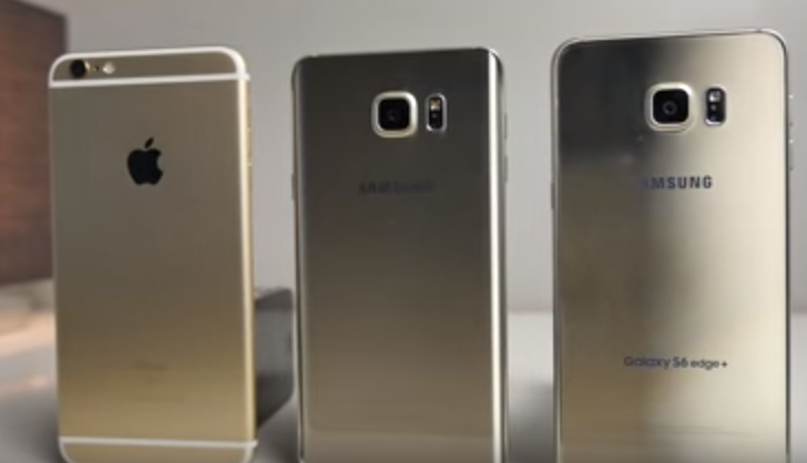 Samsung Note 5 Vs Iphone 6s Vs Samsung Galaxy S6 Edge Plus