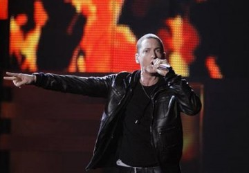 Eminem performs ''Love The Way You Lie'' at the 53rd annual Grammy Awards in Los Angeles, California, February 13, 2011.