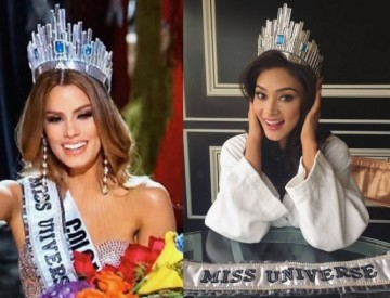 Miss Colombia Ariadna Gutierrez wore the Miss Universe 2015 crown before it was given to Pia Wurtzbach of the Philippines.