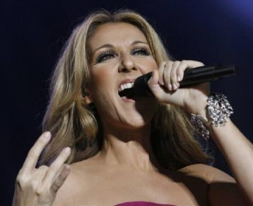 Canadian singer Celine Dion performs on stage at the Stade de Geneve in Geneva July 9, 2008.
