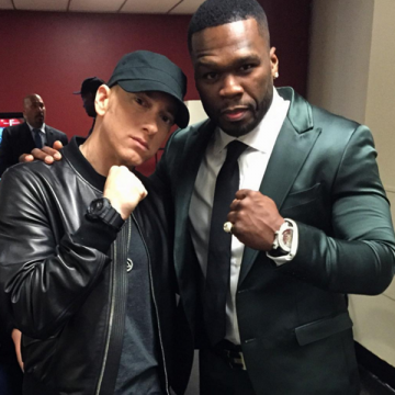 Rapper and actor Curtis James Jackson III, professionally known as 50 Cent, is a protege of Marshall Bruce Mathers III, professionally known as Eminem.