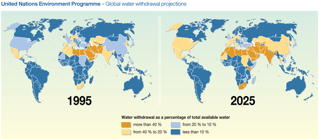 China Could Suffer Water Shortage By Study Reveals N - Us water scarcity map