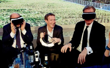 L-R: Martin Schulz, Mark Zuckerberg and Mathias Doepfner attended the presentation of the first Axel Springer Award on February 25, 2016 in Berlin, Germany.