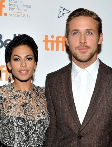 Actors Eva Mendes and Ryan Gosling attend 'The Place Beyond The Pines' premiere during the 2012 Toronto International Film Festival at Princess of Wales Theatre on September 7, 2012 in Toronto, Canada.