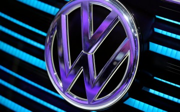 A Volkswagen logo is displayed during the Geneva Motor Show 2016 on March 1, 2016.