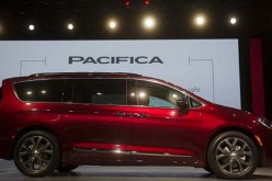 The all-new 2017 Fiat Chrysler Pacifica minivan is unveiled at the 2016 North American International Auto Show in Detroit on Jan 11, 2016.