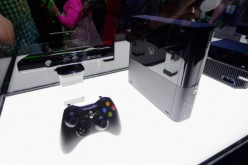 An Xbox One, not the Xbox Two, and its controller on display at the Microsoft Xbox booth