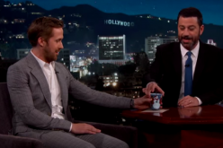 Ryan Gosling wears a tight suit on