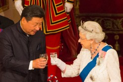 The Queen of England was filmed calling Chinese officials