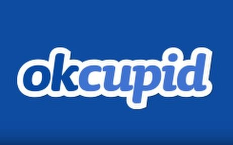 The OkCupid logo is shown in blue