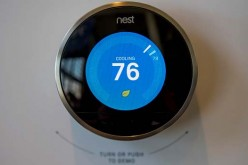 A Nest Labs Inc. thermostat is displayed during an event in San Francisco, California, U.S