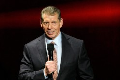 WWE Chairman Vince McMahon speaks during the announcement of the WWE Network.