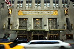 The Waldorf Astoria hotel was purchased by Chinese insurance group Anbang for about $2 billion.