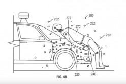 Google's patent for the pedestrian flypaper can be seen in the image