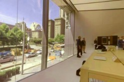 The new Apple Store in San Francisco can be seen in the image