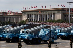 China holds a military parade to commemorate the end of World War II in Sept. 2015.