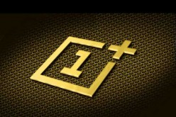 The official OnePlus company logo reimagined with gold color instead of red.