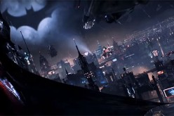 Batman takes a look at the chaotic view of the city, and sees the Bat signal from afar.