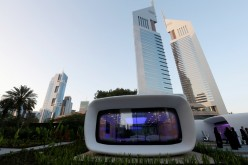 The world's first functional 3D printed offices are seen next to Emirates Towers in Dubai May 23, 2016.