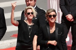 Kristen Stewart and Alicia Cargile at the red carpet premiere of