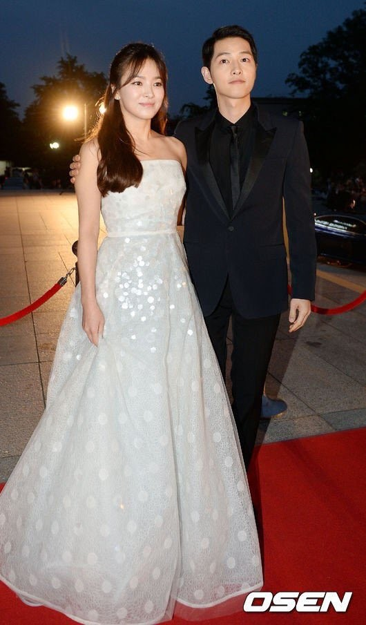 Song Joong-ki and Song Hye Kyo at 52nd Baeksang Art Awards