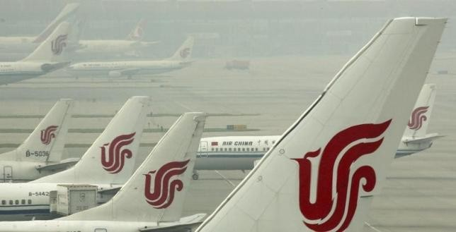 Planes of Air China dock on the tarmac at Beijing Capital International Airport, one of the busiest in the world.