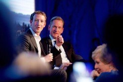 Mark Zuckerberg and Mathias Doepfner were at the presentation of the first Axel Springer Award in February in Berlin, Germany.
