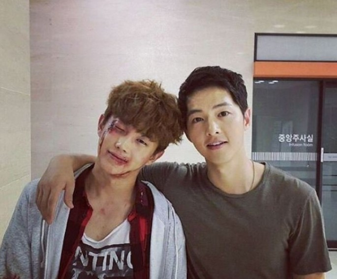 Song Joong-ki and Kim Min Suk