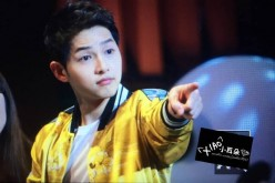 Song Joong-ki at the Chengdu fan meet on June 17.