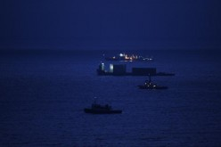 A barge sails on the South China Sea on Dec. 24, 2007, in Yangjiang of Guangdong Province, China.