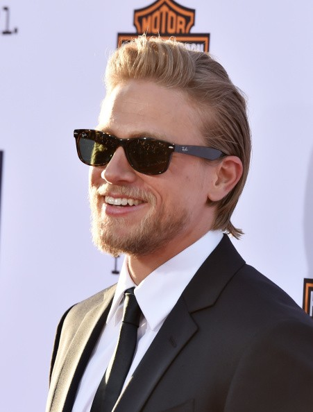 Actor Charlie Hunnam arrives at the season 7 premiere screening of FX's 'Sons of Anarchy' at the Chinese Theatre on September 6, 2014 in Los Angeles, California.