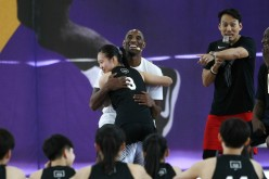 Kobe Bryant is in Taiwan to hold basketball clinics for young athletes.