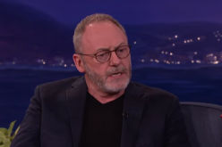 Liam Cunningham who plays Davos Seaworth guests at Conan O'Brien's show.