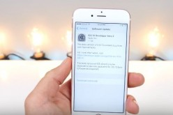 The iOS 10 developer beta 2 is shown on an iPhone
