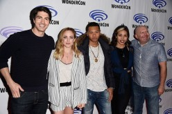 Brandon Routh, Caity Lotz, Franz Drameh, Ciara Renée and Marc Guggenheim attend DC's Legends of Tomorrow panel at WonderCon 2016 at Los Angeles Convention Center in Los Angeles, California.