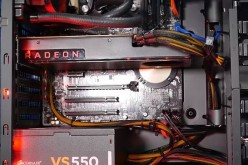 The Radeon RX 480 is placed inside a desktop CPU