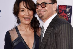 Actress Katey Sagal (L) and husband executive producer Kurt Sutter arrive at the season 7 premiere screening of FX's 'Sons of Anarchy' at the Chinese Theatre on September 6, 2014 in Los Angeles, California.