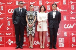 Director Karwai Wong joins 'The Grandmaster' stars Zhang Ziyi, Song Hye-Kyo and Tony Leung Chiu Wai at the 2013 Chinese Film Festival opening ceremony at Yeouido CGV  in Seoul, South Korea.