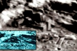 Photo of alleged alien base on the Moon taken by China's Chang'e 2 spacecraft