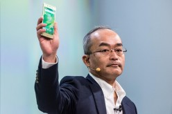 President and CEO of Sony Mobile Communication Hiroki Totoki presents the new Sony Xperia X device on the opening day of the World Mobile Congress at the Fira Gran Via Complex on Feb. 22, 2016 in Barcelona, Spain.