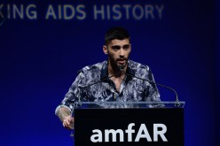 Zayn Malik speaks onstage during the 7th Annual amfAR Inspiration Gala at Skylight at Moynihan Station on June 9, 2016 in New York City.