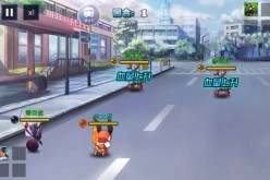 Screenshot of the game City Spirit Go, a knockoff of the popular Pokemon Go mobile game that is gaining popularity in China